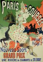 Reproduction of a poster advertising Paris Courses