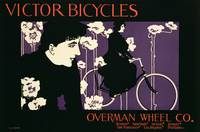 Reproduction of a poster advertising Victor Bicycl