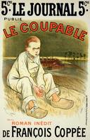 Reproduction of a poster advertising the novel Le