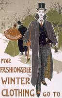 Draft Poster Design for a Winter Clothing Company