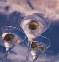 Martini Glasses and Sky by Joe Gemignani