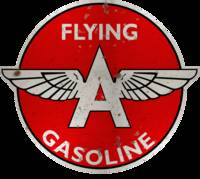 Flying A Gasoline vintage sign