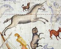 Constellation of Monoceros with Canis Major and Mi