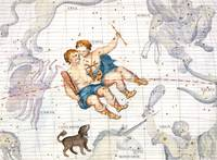 Constellation of Gemini with Canis Minor
