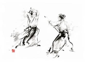 Aikido Enso Circle Martial Arts Sumi E Original In By