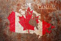 Canada Flag Map on a distressed background