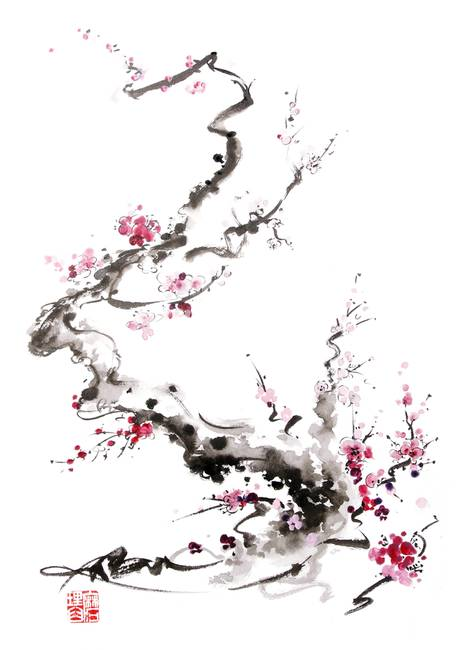 Anese Cherry Blossom Paintings Best Painting 2018