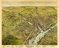 Vintage Pictorial Map of Bangor Maine (1875)