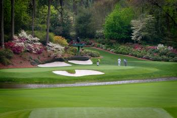 Augusta Amen Corner Golf Picture Golfers Pga By Cris Hayes