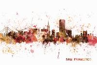 San Francisco California City Skyline