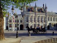 Horse-Drawn Carriage, Town Hall, Brugge, Belgium