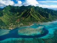 Aerial View of Moorea Island, French Polynesia