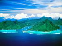 Cook's Bay and Opunohu Bay, Moorea Island, French