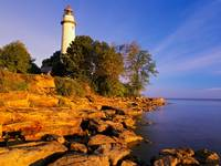 Point Aux Barques Lighthouse, Port Austin, Michiga