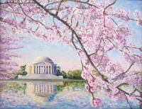 Jefferson Memorial, DC and Cherry Blossoms