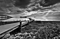 Black and White Fishing Pier-Navarre Park Florida