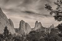 Colorado Garden of the Gods Mono Tone View