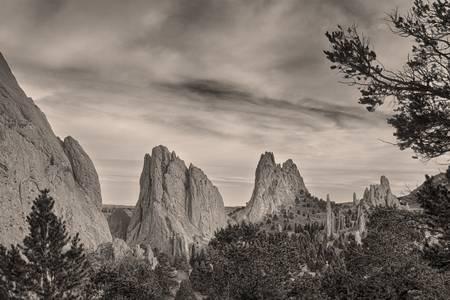 Colorado Garden of the Gods Mono Tone View