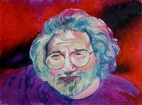 Jerry Garcia in Red
