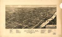 Vintage Pictorial Map of Albany Georgia (1885)