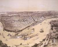 Vintage Pictorial Map of New Orleans (1851)