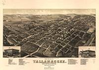 Vintage Pictorial Map of Tallahassee FL (1885)