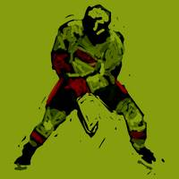 Hockey Defenseman green (c)