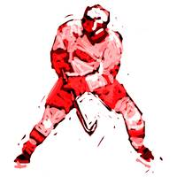 Hockey Defenseman white red (c)