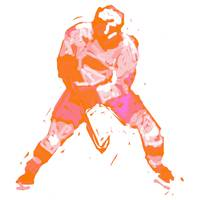 Hockey Defenseman orange pink purple (c)