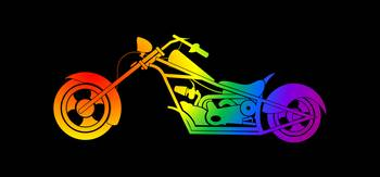 Rainbow Motorcycle