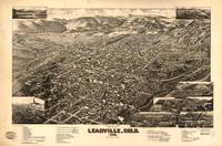 Vintage Pictorial Map of Leadville CO (1882)
