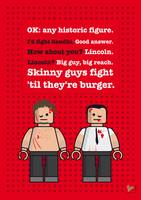 My Fight club lego dialogue poster