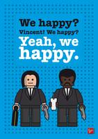 My Pulp Fiction lego dialogue poster