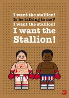 My rocky lego dialogue poster