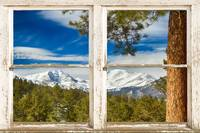 Colorado Rocky Mountain Rustic Window View