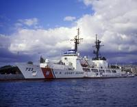 United States Coast Guard Cutter Rush docked in Pe
