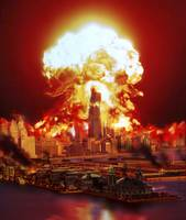 Chicago disintegrates as a nuclear explosion erupt