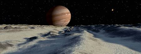 Jupiters large moon, Europa, is covered by a thick