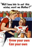 Vintage World War II poster of a mother and daught