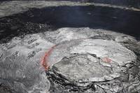 Overflowing lava lake in pit crater, Erta Ale volc