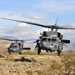 """""""Two HH60 Pavehawk helicopters preparing to land"""" by stocktrekimages"""