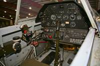 Cockpit of a P-40E Warhawk