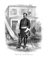 Vintage Civil War print of General George McClella