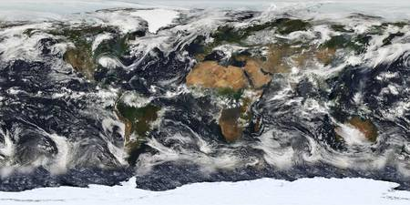 Detailed satellite view of Earth