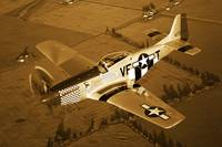 A North American P 51D Mustang in flight
