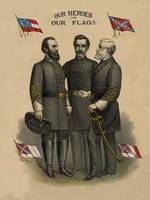 Digitally restored vector print of the Confederate