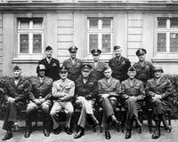 World War II photo of the senior American military