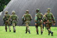 Soldiers of the Belgian Army during a MOUT trainin