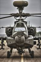 High Dynamic range image of an AH-64 Apache helico