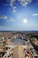 Aerial view of St Peter's Square, Rome, Italy